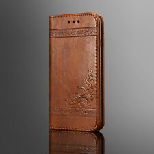 Luxury Leather Magnetic Flip Card Wallet Cover Case For Samsung Galaxy/iPhone