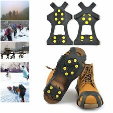 Snow Ice Cleats Anti-Slip Shoes Covers Studded Boot Traction Spike Crampons