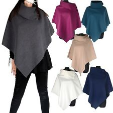 Boyfriend Hit Wool Poncho Wrap Cape Shawl Pullover Scarf Car Jacket One Size