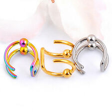 Unisex Fashion C Shaped Circle Punk Jewelry No Piercing Clip On Ear Cuff Earring