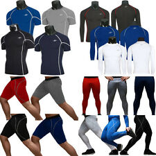 Mens Compression Cycling Sports Gym Wear Tracksuit Tights Pants Jersey T-Shirts