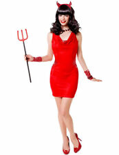 Adult Ladies Red Hot Devil Temptress Halloween Fancy Dress Outfit Costume