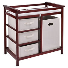 New Infant Baby Changing Table w/3 Basket Hamper Diaper Storage Nursery US Stock