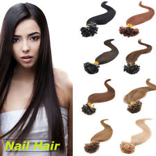 100s Remy Hair Pre Bonded Nail U Tip Human Hair Extensions 18/20/22 inch