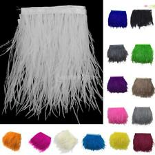 Multi-Color Ostrich Feathers Trims Fringe Ribbon Tape Sewing Craft 1 Yard/1M