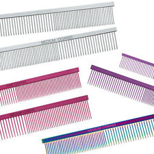 Dog Puppy Grooming Comb - Greyhound Combs - 5 Colors - Choose Style & Color