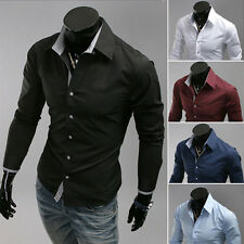 Fashion Mens Luxury Business Stylish Slim Fit Long Sleeve Casual Dress Shirt t6