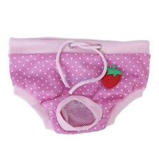 Female Pet Dog Physiological Sanitary Pant Panty Diaper Underwear Pink