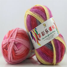 1 Ball 100g Space Dyed Gradient Thick Wool Yarn Knit Crochet Cap Scarf Sweater S