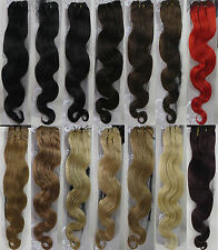 """Factory Outlet Price Choose 18-26"""" Remy Human Hair Extensions Weft 14Colors WAVY"""