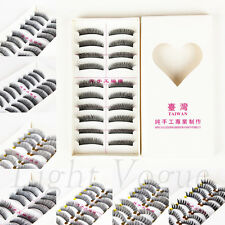 10 Pairs Makeup Natural Thick Fake False Eyelashes Eye Lashes Extension New 001t