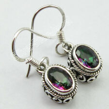 925 Pure Silver MYSTIC TOPAZ, PERIDOT & Other Gemstone Variation ETHNIC Earrings
