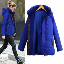 Womens Ladies Warm Lined Hooded Padded Down Coat Quilted Jacket Thicken Parka