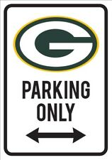 Green Bay Packers Parking Only Novelty Aluminum Sign Baseball Man Cave Cheese