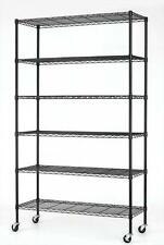 "Commercial 82""x48""x18"" 6 Tier Layer Shelf Adjustable Wire Metal Shelving Rack +"