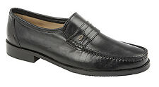 Mens New Black Leather Moccasin Casual Slip On Shoes 6 7 8 9 10 11 12