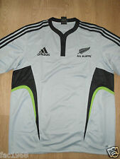 New Zealand All Blacks Men's Rugby Shirt Jersey Adidas Climacool Grey L New