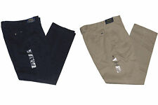 Polo Ralph Lauren Mens Classic Fit Pleated Front Navy Beige Chino Pants New