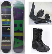 """NEW ARIA """"TYPERIDER"""" SNOWBOARD, BINDINGS, BOOTS PACKAGE - 157cm"""