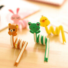 Lovely 2Pcs Animal Earphone Wrap Winder Organizer Strap Cord Wire Cable Holder