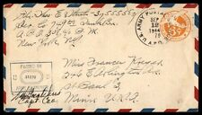 1944 APO censored postal stationery cover to St. Paul Minnesota US