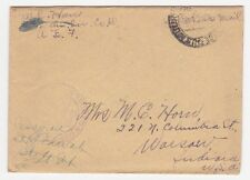 US APO American Expeditionary Forces WWI Censored Cover to Warsaw IN
