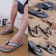NEW Summer Casual Men Boy Shoes Beach Home Flip Flops Sandals Massage Slippers