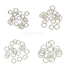 20PCS NEW OPEN SPLIT CONNECTORS JUMP RINGS SILVER For Craft DIY 3-6mm