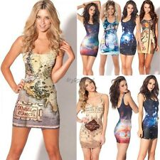Women Fashion Space Galaxy top The Hobbit Middle Earth Map Sexy Mini Short Dress