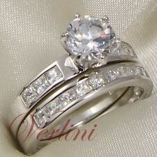 2 Ct Brilliant Cut AAA CZ Wedding Ring 925 Sterling Silver Women's Size 5-10