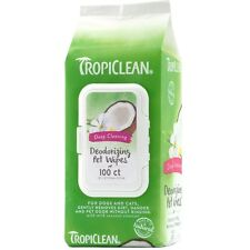 Tropiclean Dog WIPES DEEP CLEANING DEODORIZING 100 ct Pkg
