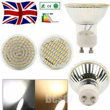 UK Free P&P 12x LED Bulbs 60/80 SMD LED Spot Light Lamp Day Warm White GU10