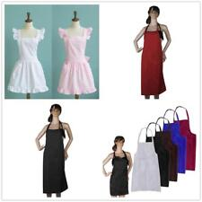 Kitchen Cotton Bow long Waist Apron Bar Pub Cafe Server Waiter Waitress Lady