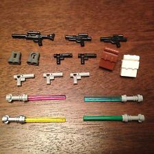 1W STAR WARS LEGO MINI FIGURES Weapons guns lightsabers lots of choices