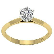Genuine Diamond Solitaire Anniversary Ring I1 G 0.55Ct 14K Solid Gold Appraisal