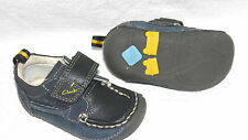 Clarks Cruisher baby boy Navy Leather shoes size 3/18 F Std fit RRP £26