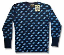Harley Davidson Trunk LTD Trademark Blue Adult Thermal Shirt New Official NWT