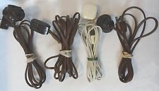 4 Extension Cords with Bakelite Leviton, Hatfield, ElectriCord All Work