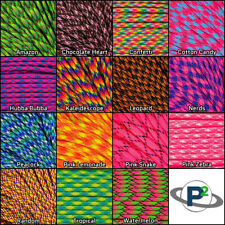 New 550 Paracord parachute cord Mil Spec Type III 7 Strand 10ft 20ft 50ft 100ft