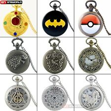 Antique Classic steampunk women Mens Pocket Watch Gift Quartz Necklace Chain Hot