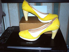 TERRA PLANA YELLOW NUBUCK LEATHER ECO platform sole SZ 39 General wear/good cond