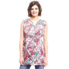 NWT Oh Baby by Motherhood Maternity Floral Tunic Top Shirt Blouse Pink S M L XL