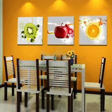3pcs/set Canvas Kitchen Wall Art Painting Picture Fruits Print Dining Room Decor