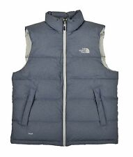 Men's North Face Cosmic Blue Heather Nuptse 700 Down Vest Jacket New $149