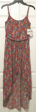 Juniors' Derek Heart Hi-Low Geometric Print Maxi Dress, Size M, Multi-Color, NWT