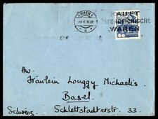 Ausria Kauft Waren 1936 Slogan Cancellation on cover to Basel