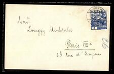 Austria Wien to Paris 1934 60 Grozchen Mourning cover single Fr