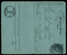 1897 Austria Prague Cancellation 3 Kr Letter Card Stationery