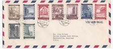 Austria to US 1955 Philatelic Cover with reconstruction Set Sc B225-B234