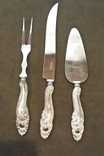 Vintage Set SHEFFIELD STAINLESS Carving Knife and Fork with Cake Server